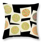Ishihara Color Blindness Test Throw Pillow