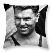Jack Dempsey (1895-1983) Throw Pillow