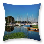Lake Guntersville Alabama Throw Pillow