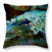 Lettuce Sea Slug Throw Pillow