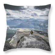 Mount Black Rock Throw Pillow