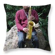 Muslim Jazz Musician. Throw Pillow