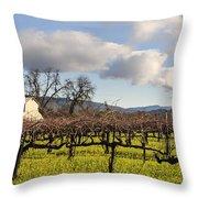 Napa Valley Vineyard Throw Pillow