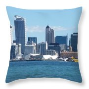 New Zealand - The Sea Heart Of Auckland Throw Pillow