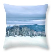 North Carolina Sugar Mountain Skiing Resort Destination Throw Pillow