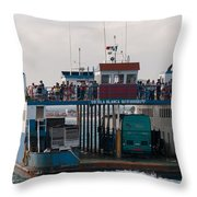 On The Way To Isla Muheres Throw Pillow
