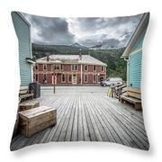 Port Of Skagway Alaska Near White Pass British Columbia Canada Throw Pillow