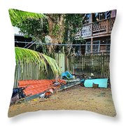 Roatan/house Throw Pillow
