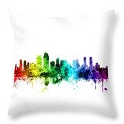San Diego California Skyline Throw Pillow