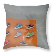 8 Sneakers Throw Pillow