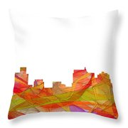 Springfield Illinois Skyline Throw Pillow