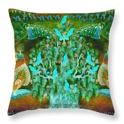 Sukkot- Prayer In The Sukkah Throw Pillow