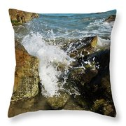 Sunshine Beach At Noosa, Sunshine Coast Throw Pillow
