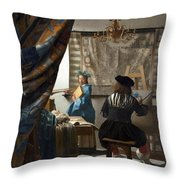 The Art Of Painting Throw Pillow