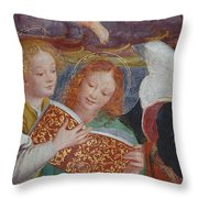 The Concert Of Angels Throw Pillow