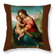 The Virgin And Child Throw Pillow
