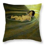 The Water Babies Throw Pillow