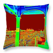 Train Station Series Throw Pillow
