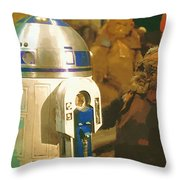Video Star Wars Poster Throw Pillow
