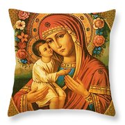 Virgin And Child Painting Art Throw Pillow