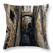 Walking Through The Streets Of Pretoro - Italy  Throw Pillow