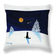 Winter Star Throw Pillow