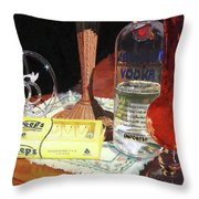 80 Proof Throw Pillow