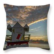 8003- Miami Beach Sunrise Throw Pillow