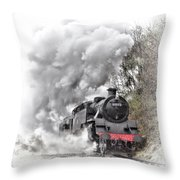 80072 Steaming In The Rain Throw Pillow