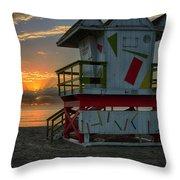 8097- Miami Beach Sunrise Throw Pillow
