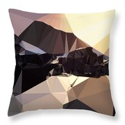 Abstract Art Landscape Of Triangles Throw Pillow