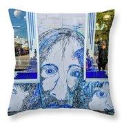8261- Little Havana Mural Throw Pillow