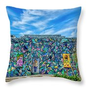 8276- Little Havana Mural Throw Pillow