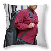 Jazz Musician. Throw Pillow