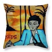 8303-2-  Little Havana Mural Throw Pillow