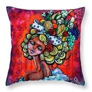8334-1- Little Havana Mural Throw Pillow