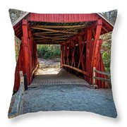 8350- Campbell's Covered Bridge Throw Pillow