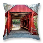 8351- Campbell's Covered Bridge Throw Pillow