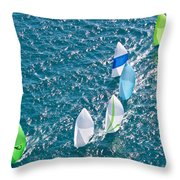 Key West Race Week Throw Pillow