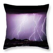 85255 Fine Art Arizona Lightning Photo Poster Throw Pillow