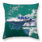 Key West Race Week Throw Pillow