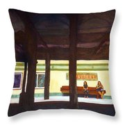 86th Street Throw Pillow