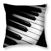 88 Keys To The Heart Throw Pillow