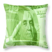 Time Is Money 17 Throw Pillow