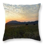Landscape Oil Painting For Sale Throw Pillow