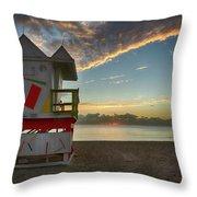 8990- Miami Beach Sunrise Throw Pillow