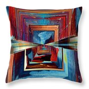 8th Ave Window Throw Pillow