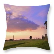 8th Pa Cavalry Throw Pillow