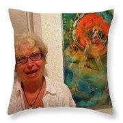 9-10-4057a Throw Pillow