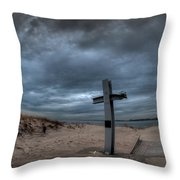 9/11 Memorial In Breezy Point New York Throw Pillow